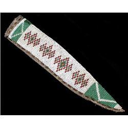 Plains Indian Fully Beaded Knife Sheath