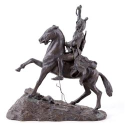 "Frederick Remington Bronze, ""The Scalp"""