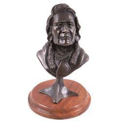 Original G.C Wentworth Native American Bronze Bust