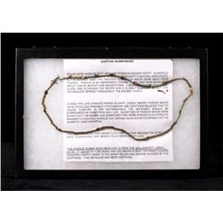 26th Egyptian Dynasty Mummybead Necklace