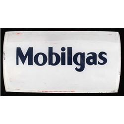 Mobilgas Glass Advertising Gas Pump Insert