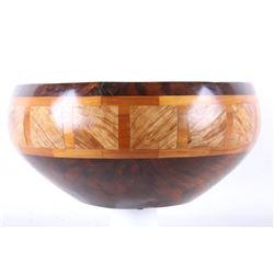 Warren Atkins Redwood Turned & Inlaid Vessel