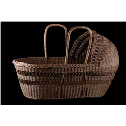 Large Hooded Baby Carrier Basket Circa Mid 1900s