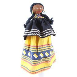 Circa 1950's Seminole Handmade Palm Fiber Doll