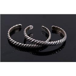 Navajo Native American Sterling Silver Bracelets
