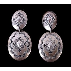Navajo Native American Sterling Silver Earrings