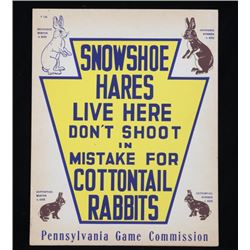 Pennsylvania Game Commission Rabbit Hunting Sign