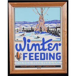 1940's Pennsylvania Game Winter Feeding Sign