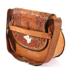 Custom Hand Tooled Western Leather Purse