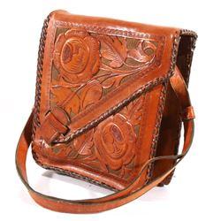 Custom Tooled Leather Western Satchel