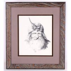 Lee R. Griffiths Signed Original Pencil Sketch