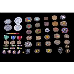 U.S. Military Challenge Coins & Service Ribbons