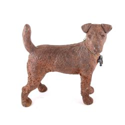 Cast Iron Terrier Dog Door Stopper