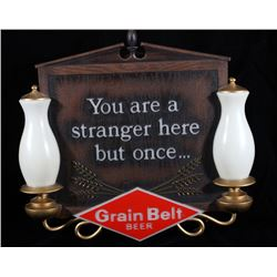 Grain Belt Beer Light Up Advertising Sign