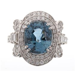 Montana Cornflower Blue Sapphire & Diamond Ring