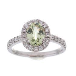 Vintage Montana Sapphire & Diamond Platinum Ring
