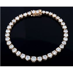 EXCELLENT 9.83 ct. Diamond & 14K Gold Bracelet