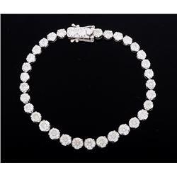 EXCELLENT 9.05 ct. Diamond 18K White Gold Bracelet