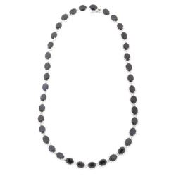 56.21ct. Blue Sapphire & 11.38ct. Diamond Necklace