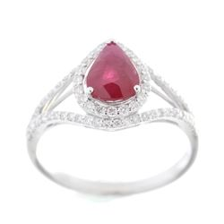 Vintage Estate Ruby & Diamond Platinum Ring