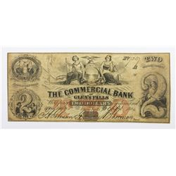 1864 $2 COMMERCIAL BANK GLEN FALLS NY