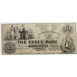 1850'S $10 ESSEX BANK
