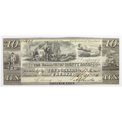 1836 $10 WASHINGTON COUNTY BANK