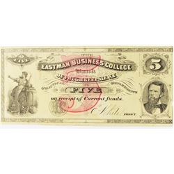 $5.00 NEW YORK EASTMAN BUSINESS COLLEGE