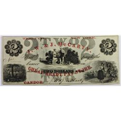 1860'S $2 NEW YORK OBSOLETE