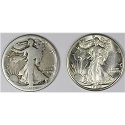 1944-D AND 1916-D WALKING LIBERTY HALF DOLLARS