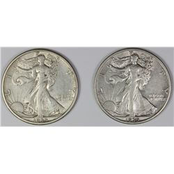 1933-S AND 1935-S WALKING LIBERTY HALF DOLLARS