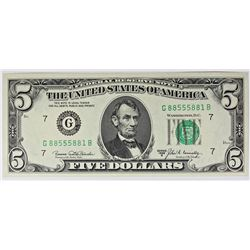 1969-B $5.00 CHICAGO FEDERAL RESERVE NOTE