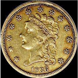 1836 $2.50 GOLD CLASSIC HEAD