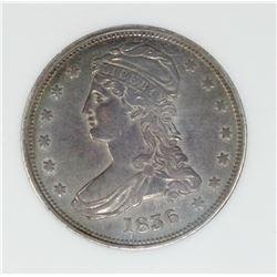 1836 REEDED EDGE HALF DOLLAR