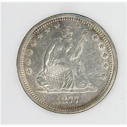 1877-S SEATED QUARTER