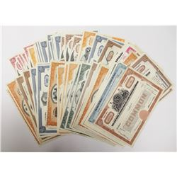 100 MIXED LARGE AVATION & RAILROAD STOCK CERTS