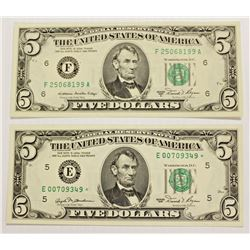 TWO 1981 FEDERAL RESERVE NOTES