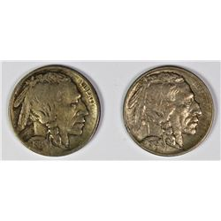 TWO BUFFALO NICKELS: