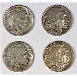 FOUR BUFFALO NICKELS: