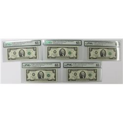(5) 2003 $2.00 FEDERAL RESERVE NOTES