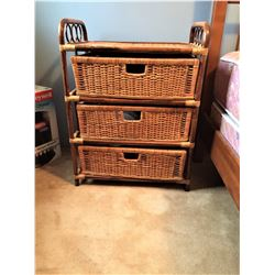 Wicker and Rattan Chest B
