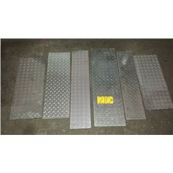 Lot of assorted Aluminum checker Plate