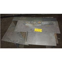 Lot of assorted Aluminum Plate