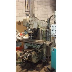 """JAFO Milling Machine with motorized RAM and automatic Feed (Table 12""""1/2 x 59""""1/2)"""