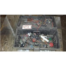 Box with Push Button and Electronic parts