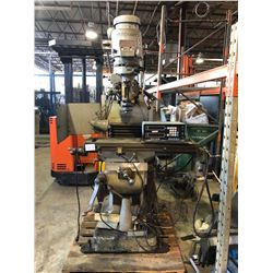 Bridgeport Milling Machine with Digital Read Out and Servo Feed