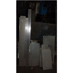 Lot of assorted Aluminum checker Plate (9 sheets)