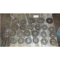 "Lot of Milling Cutter from 3""3/4 to 5"""