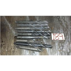 "Lot of Taper Shank Drill (including 21/32""- 29/32""- 13/16""- 15/16""- 1"" 1/32- 1 ""1/16- 22mm- 27mm- )"