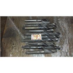 "Lot of Taper Shank Drill (including 1""1/8- 1""5/32- 1""3/16- 1""1/4- 1""11/32- 1""3/8- 1""13/32- 1""7/16)"
